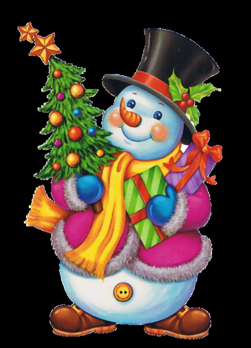 Tubes no l bonshommes de neige - Sapin avec cadeaux ...