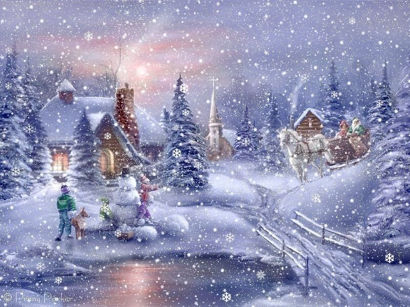 wallpapers noel paysage christmas - photo #8